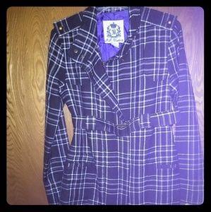 B.B. Dakota Purple Plaid coat